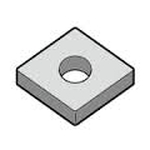 "Turning Insert Diamond 80°, Negative, with Hole, CNGG12○○R/L-A3 ""for Finishing to Intermediate Cutting / Sharp Edge"" for Aluminum / Nonferrous Metals"