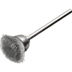 Miniature Cup Type Shaft Mounted Cup Brush (Shaft Diameter 3 mm)