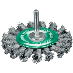 Stainless Steel Wire Shaft Mounted Wheel Brush (Shaft Diameter 6 mm)