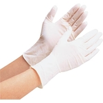 Natural Rubber Disposable Gloves Powdered (100 Pieces per Packet)
