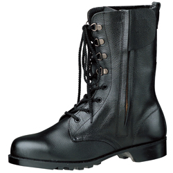Long Lace-up Safety Boots V2133 with Zipper N (black)