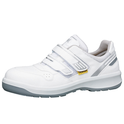 Hook & Loop Fastener Safety Shoes G3695 Antistatic Type (White)