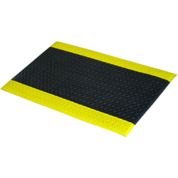 MISM Comfortable Cushion Mat, Black Yellow