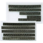 Self Inking Stamps for Replacement_Interchangeable Rubber Stamps (Numeric Characters and Chinese Characters Set)