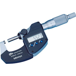 Coolant Proof Micrometer With Measurement Data Output Port (Ratchet Stop)