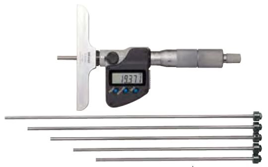 Depth Micrometer SERIES 329, 129 - Interchangeable rod type