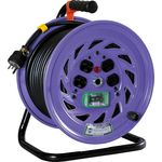 Indoor Retractable Single Phase 200 V Power Electric Cable Drum