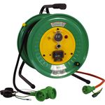 Outdoor Type Single Phase 100 V Earthing with Breaker / Exclusive Cable Reel (Extension Cord Type)