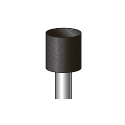 Black Grindstone (Grindstone with Shaft), Shaft Diameter ⌀6.0
