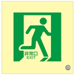 "Medium Bright Luminescent Floor Indication Mark ""Emergency Exit"" Floor 15"