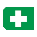 First Aid Symbol Flag (Big)