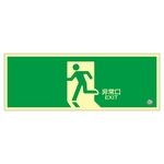 "High Brightness Phosphorescent Emergency Exit Guidance Sign ""Emergency Exit"" Luminescent SN-2804"