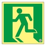 High Brightness Phosphorescent Emergency Exit Guidance Sign _1