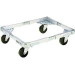 Extending Container Cart Dolly, Model DLF, Rubber Caster Specification