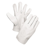 Leather Gloves - Crest White
