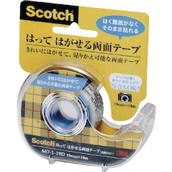 Scotch Post-Able-Removable Double-Sided Tape Dispenser-Attached