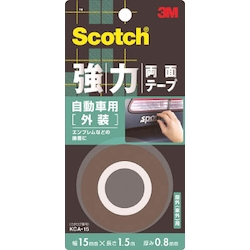 Scotch Extra-Strong Double Sided Tape, Automobile Exterior-Use