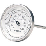 Bi-metal Thermometer (Back View)