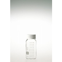 Screw Cap Bottle, Wide Mouth, Safety Coat, with White Cap