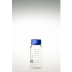 Screw Cap Bottle, Wide Mouth, Safety Coat, with Blue Cap