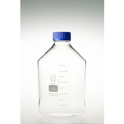 Screw Cap Bottle, Wide Mouth, with Blue Cap