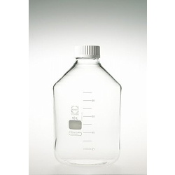 Screw Cap Bottle, Wide Mouth, with White Cap