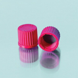 Red Cap Screw Hole 4 Port Cap for Wide Mouth