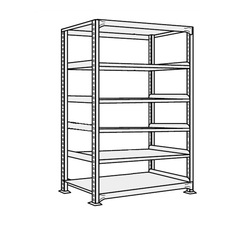 Medium/Light Duty Shelfs, NEW Type (White Gray), Height 2100 mm