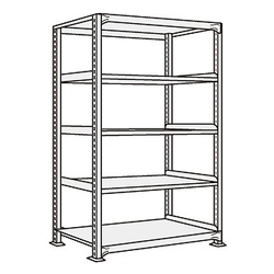 Medium/Light Duty Shelfs, NEW Type (White Gray), Height 1500 mm