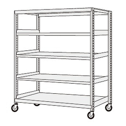 Medium Duty Caster Rack, Height 2000 mm