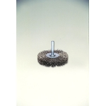 SUS304 Stainless Steel Press Wheel Brush with Shaft