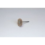 Miniature Grit Shaft Mounted Wheel Brush, with Abrasive Sanding