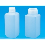 Square Bottle, Thin / Wide Opening, White, PE Materials 50 mL–1 L