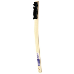 Takegara Hog Bristle Brush, Curved Handle, 4 Rows of Bristles