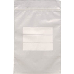 Poly Bag with Zipper (with Label Frame)