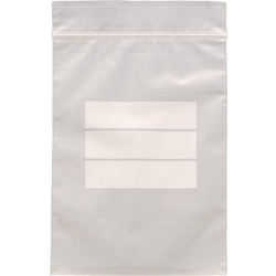Poly Bag with Zipper (Thick Type / with Label Frame)