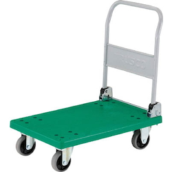 Plastic Trolley, Grand Cart, Folding Handle Type / Urethane Caster