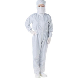 Cleanroom Work Clothes (Antistatic Yarn Grid) with Hood