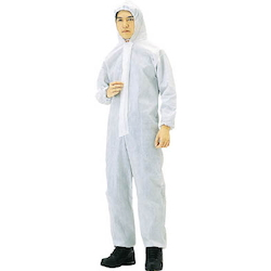Nonwoven disposable protective clothing, overalls, white