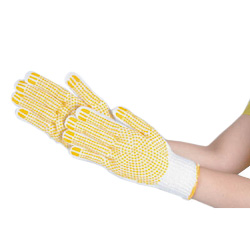 Double-sided slip prevention cotton gloves