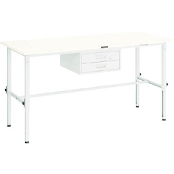 Lightweight Adjustable Height Work Bench with 2 Drawers Linoleum Tabletop Average Load (kg) 150