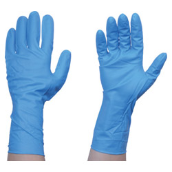 TRUSCO Disposable Nitrile Gloves TG Strong 0.26 Powder Free Blue S/M/L 50 Pairs