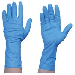 TRUSCO Disposable Nitrile Gloves TG Protect 0.19 Powder Free Blue S/M/L 50 Pairs