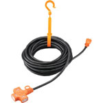 Multi-Tap Extension Cord with Retainer