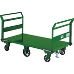 Steel Hand Truck, Large 6-Wheel Type with Fixed Handle on Both Ends