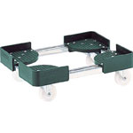 Telescopic Type Container Trolley, Stainless Steel 4-Wheel Type