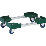 Telescopic Type Container Trolley, Steel 4-Wheel Type / Air Caster