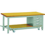 Movable Heavy Work Bench with 3 Cabinets Average Load (kg) 3000