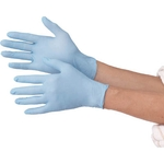 Disposable Ultra-Thin Gloves, Nitrile, without Powder, 100-piece set, Blue / White