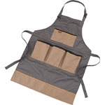 Work Apron, Beige and Black/Black and Gray/Gray and Beige